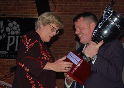 Phyllis Cowling Accepting Member of the Year